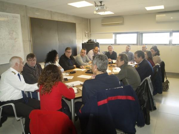 Foto de l'última reunió de treball en el Consorci Provincial d'Alacant